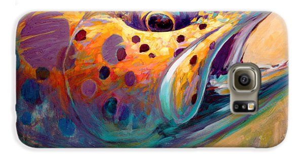 Fire From Water - Rainbow Trout Contemporary Art Galaxy S6 Case by Savlen Art