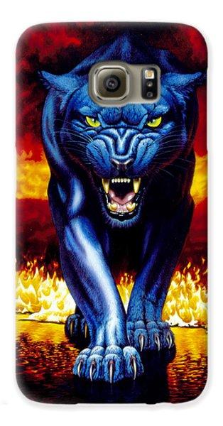 Fire Panther Galaxy S6 Case by MGL Studio - Chris Hiett