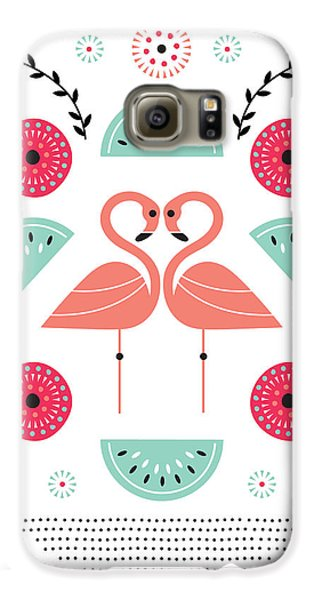 Flamingo Flutter Galaxy S6 Case by Susan Claire
