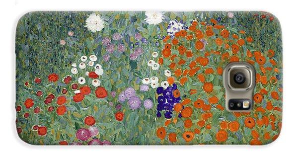 Flower Garden Galaxy S6 Case by Gustav Klimt