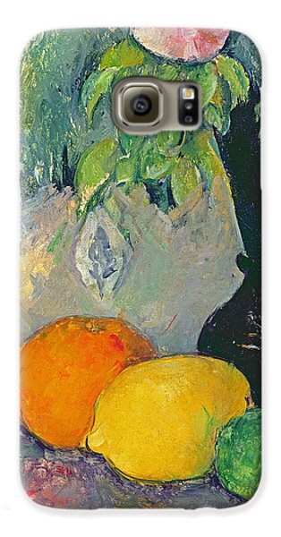 Flowers And Fruits Galaxy S6 Case by Paul Cezanne