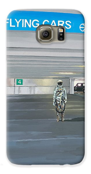Flying Cars To The Right Galaxy S6 Case by Scott Listfield