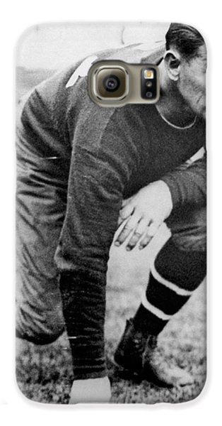 Football Player Jim Thorpe Galaxy S6 Case by Underwood Archives