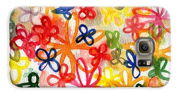 Fresh Flowers Galaxy S6 Case by Linda Woods