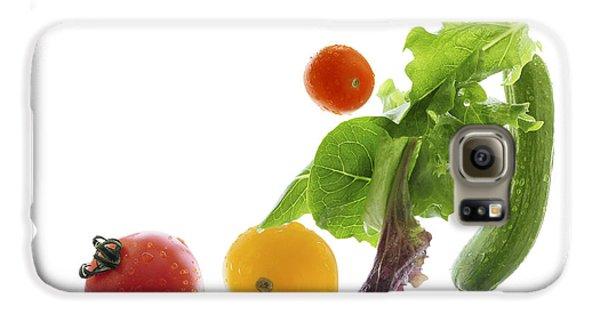 Fresh Vegetables Flying Galaxy S6 Case by Elena Elisseeva