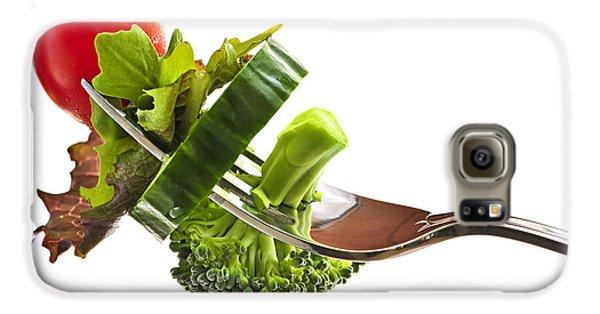 Fresh Vegetables On A Fork Galaxy S6 Case by Elena Elisseeva