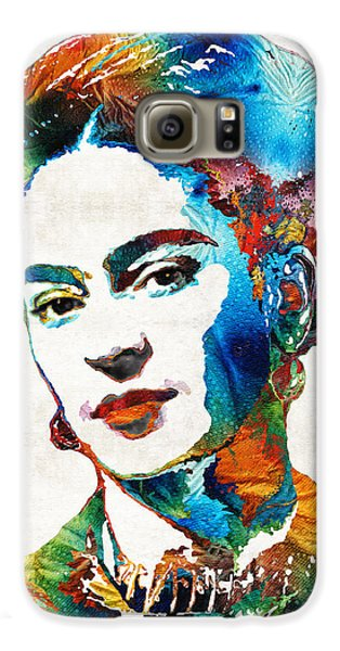 Frida Kahlo Art - Viva La Frida - By Sharon Cummings Galaxy S6 Case by Sharon Cummings