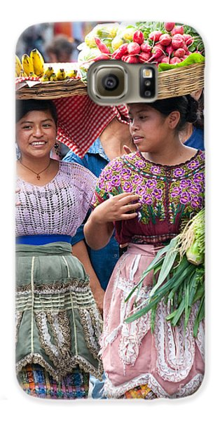 Fruit Sellers In Antigua Guatemala Galaxy S6 Case by David Smith