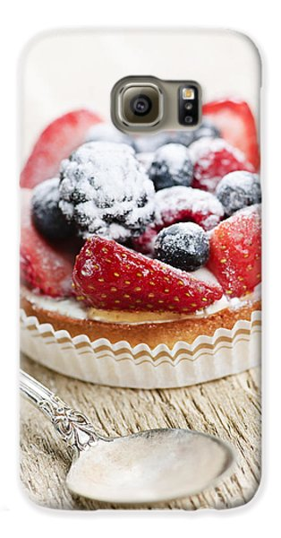Fruit Tart With Spoon Galaxy S6 Case by Elena Elisseeva