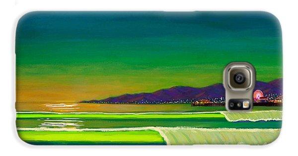 Full Moon On Venice Beach Galaxy S6 Case by Frank Strasser