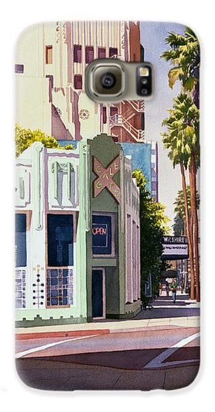 Gale Cafe On Wilshire Blvd Los Angeles Galaxy S6 Case by Mary Helmreich