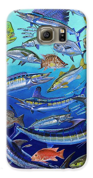 Gamefish Collage In0031 Galaxy S6 Case by Carey Chen