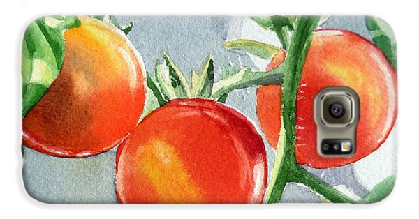Garden Cherry Tomatoes  Galaxy S6 Case by Irina Sztukowski