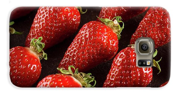 Gariguette Strawberries Galaxy S6 Case by Aberration Films Ltd