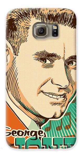 George Jones Pop Art Galaxy S6 Case by Jim Zahniser