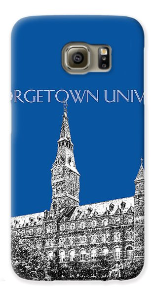 Georgetown University - Royal Blue Galaxy S6 Case by DB Artist
