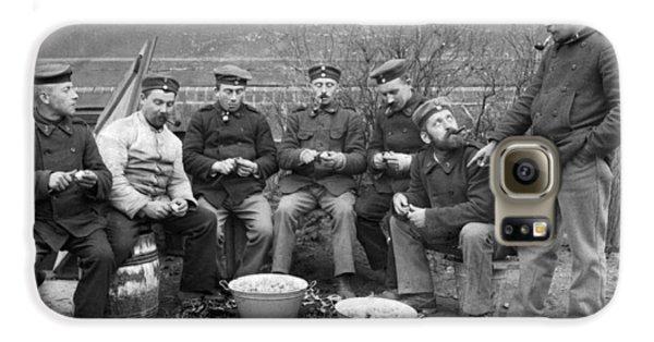Germans Peeling Potatoes Galaxy S6 Case by Underwood Archives