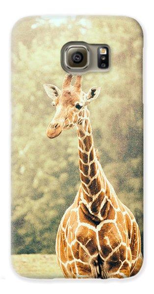 Giraffe In The Rain Galaxy S6 Case by Pati Photography