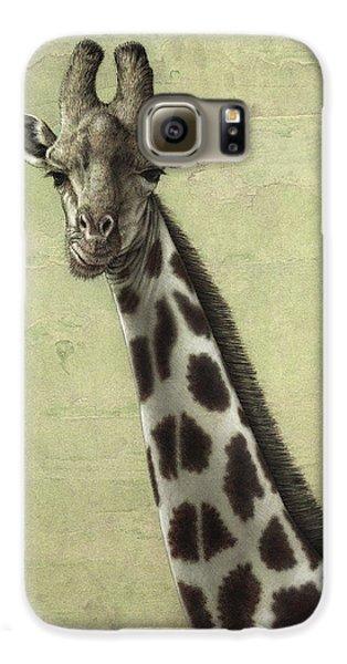 Giraffe Galaxy S6 Case by James W Johnson