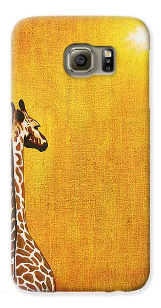 Giraffe Looking Back Galaxy S6 Case by Jerome Stumphauzer