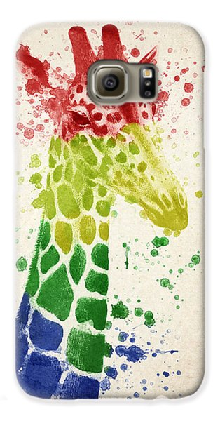 Giraffe Splash Galaxy S6 Case by Aged Pixel