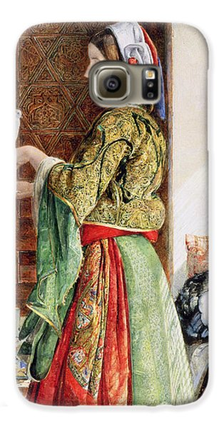 Girl With Two Caged Doves, Cairo, 1864 Galaxy S6 Case by John Frederick Lewis