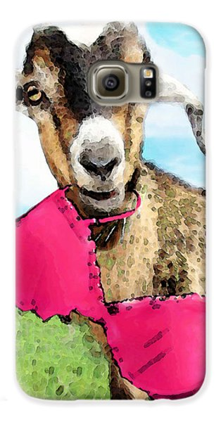 Goat Art - Oh You're Home Galaxy S6 Case by Sharon Cummings