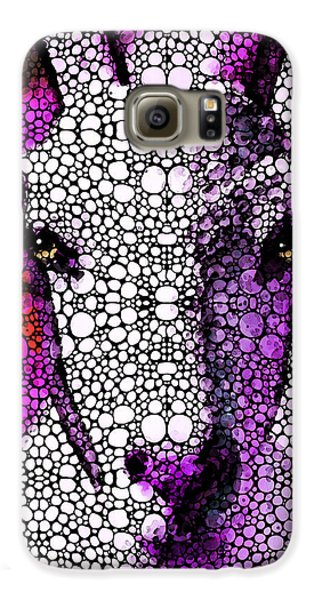 Goat - Pinky - Stone Rock'd Art By Sharon Cummings Galaxy S6 Case by Sharon Cummings