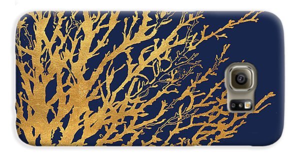 Gold Medley On Navy Galaxy S6 Case by Lanie Loreth