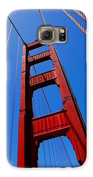 Golden Gate Tower Galaxy S6 Case by Rona Black