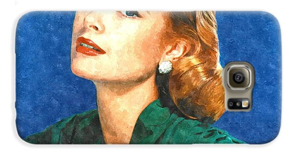 Grace Kelly Painting Galaxy S6 Case by Gianfranco Weiss