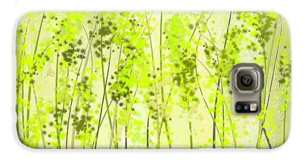 Green Abstract Art Galaxy S6 Case by Lourry Legarde