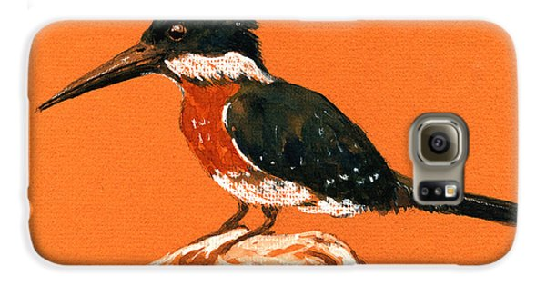 Green Kingfisher Galaxy S6 Case by Juan  Bosco