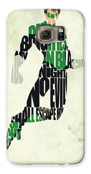 Green Lantern Galaxy S6 Case by Ayse Deniz