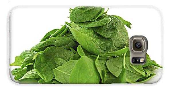 Green Spinach Galaxy S6 Case by Elena Elisseeva