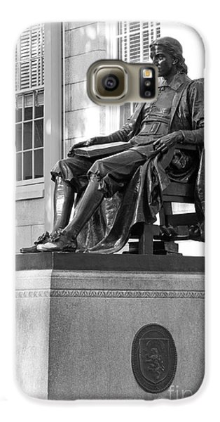 John Harvard Statue At Harvard University Galaxy S6 Case by University Icons