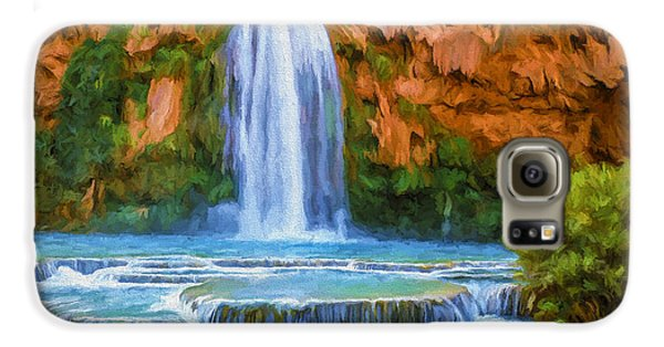 Havasu Falls Galaxy S6 Case by David Wagner