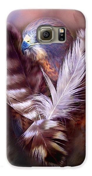 Heart Of A Hawk Galaxy S6 Case by Carol Cavalaris