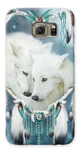 Heart Of A Wolf Galaxy S6 Case by Carol Cavalaris