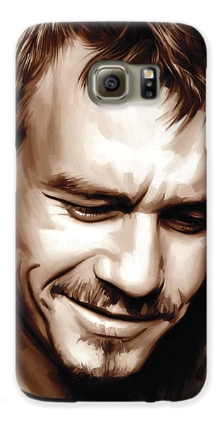 Heath Ledger Artwork Galaxy S6 Case by Sheraz A