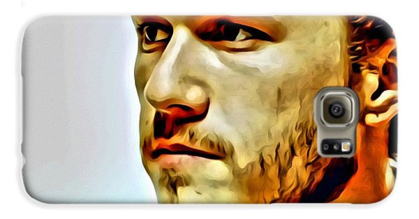 Heath Ledger Portrait Galaxy S6 Case by Florian Rodarte