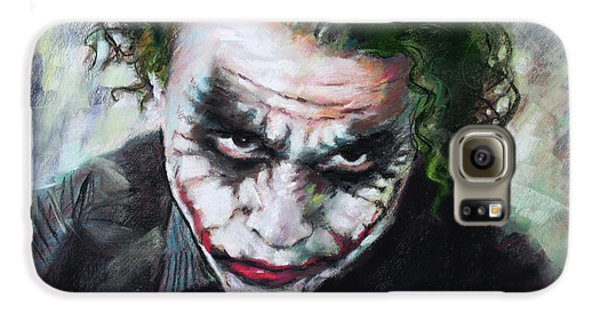 Heath Ledger The Dark Knight Galaxy S6 Case by Viola El