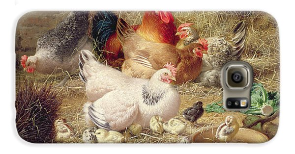 Hens Roosting With Their Chickens Galaxy S6 Case by Eugene Remy Maes