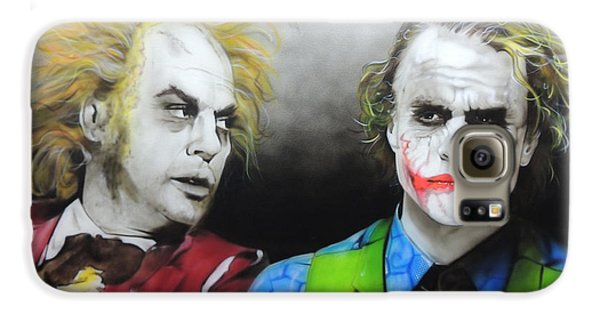 Health Ledger - ' Hey Why So Serious? ' Galaxy S6 Case by Christian Chapman Art