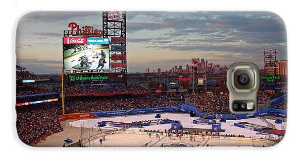 Hockey At The Ballpark Galaxy S6 Case by David Rucker