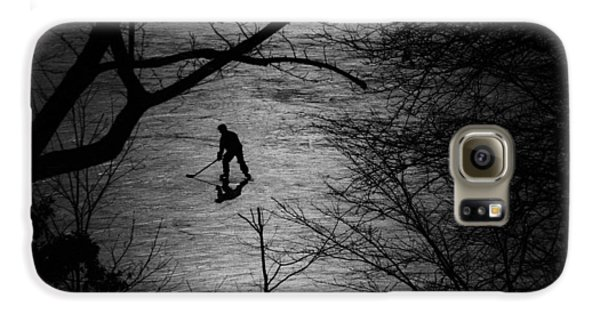 Hockey Silhouette Galaxy S6 Case by Andrew Fare