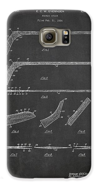 Hockey Stick Patent Drawing From 1934 Galaxy S6 Case by Aged Pixel