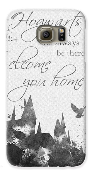 Hogwarts Quote Black And White Galaxy S6 Case by Rebecca Jenkins