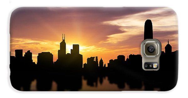 Hong Kong Sunset Skyline  Galaxy S6 Case by Aged Pixel