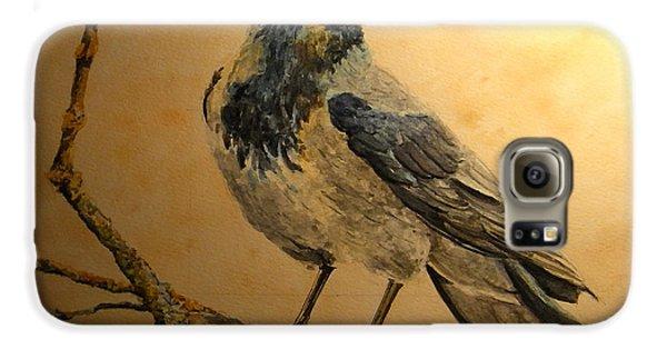 Hooded Crow Galaxy S6 Case by Juan  Bosco